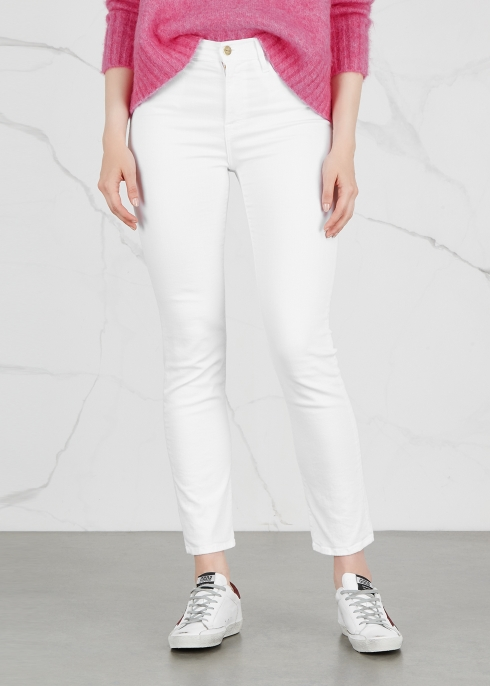 FRAME DENIM Le High Straight white jeans - Harvey Nichols