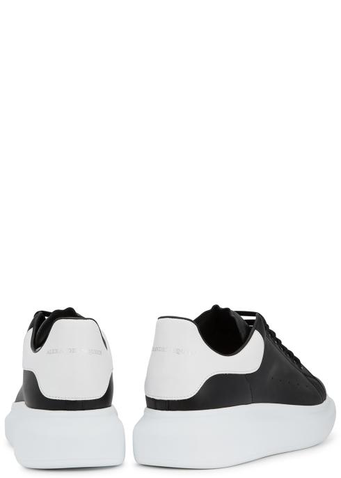 b0f24b685508 Alexander McQueen Larry monochrome leather trainers - Harvey Nichols