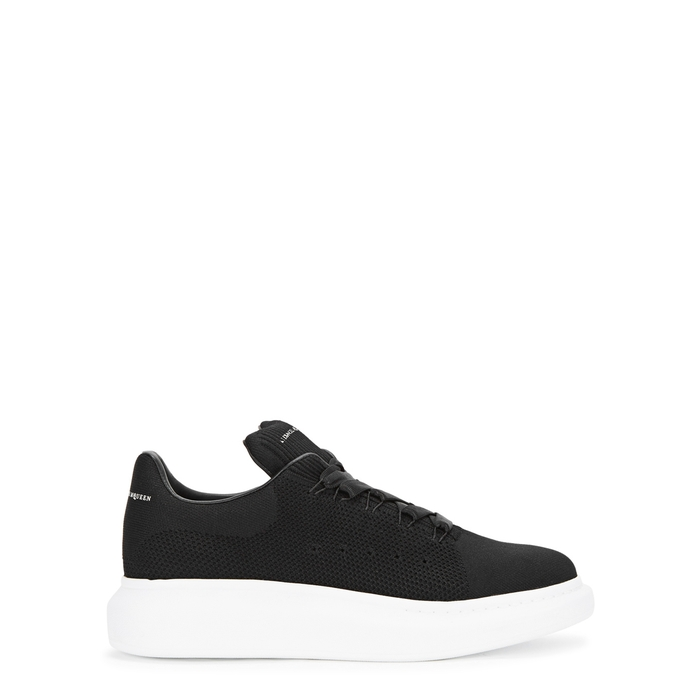Alexander McQueen Black Knitted Trainers