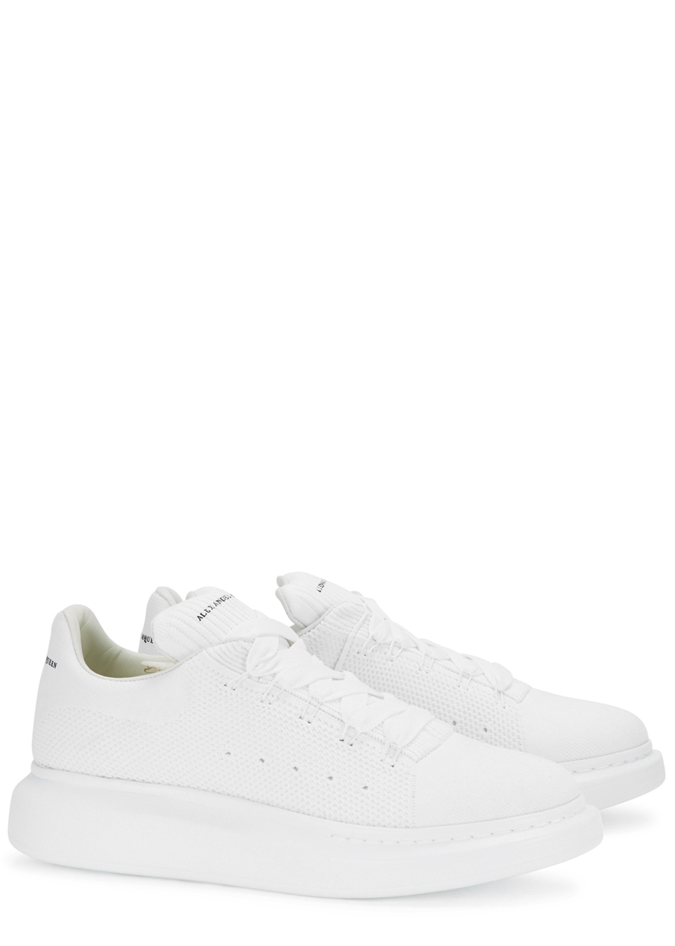 Alexander McQueen White knitted trainers - Harvey Nichols 4aa241d64