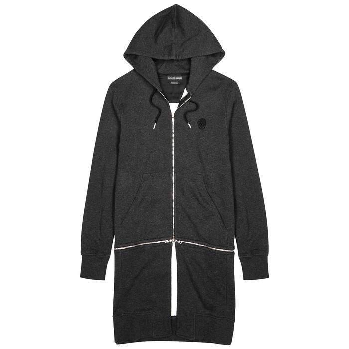 Alexander McQueen Charcoal Hooded Cotton Sweatshirt