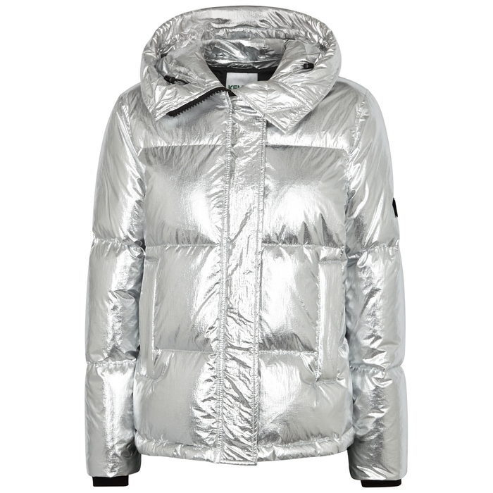 Kenzo Downs SILVER QUILTED SHELL JACKET