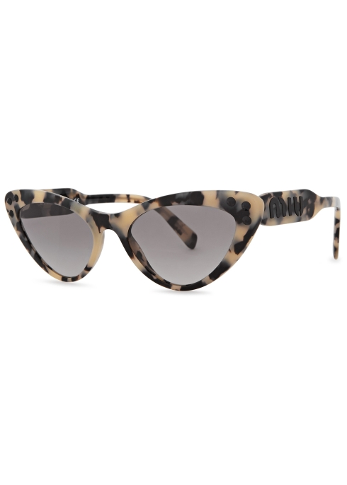 71d150e71e0 Miu Miu Tortoiseshell embellished cat-eye sunglasses - Harvey Nichols