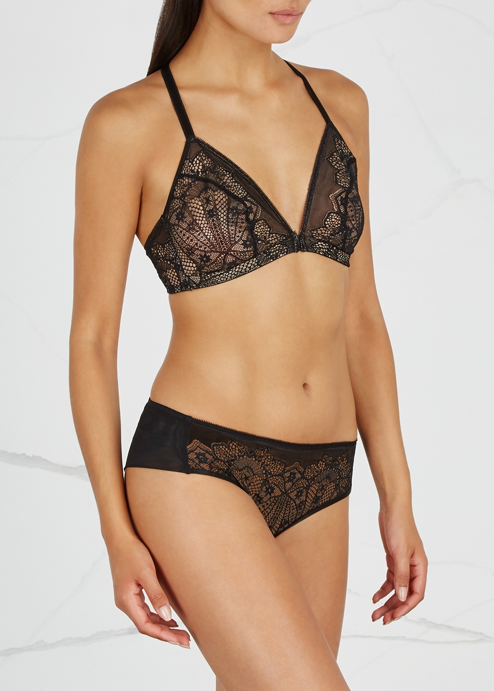 6ce1293802 Wacoal Take The Plunge lace soft-cup bra - Harvey Nichols