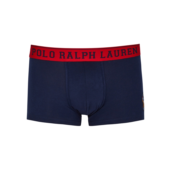 Polo Ralph Lauren Navy Stretch-cotton Boxer Briefs thumbnail