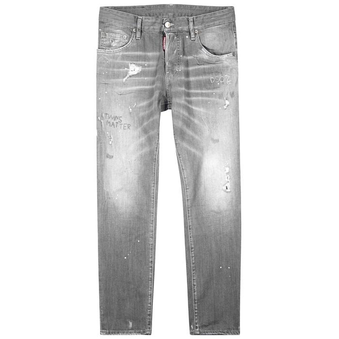 DSQUARED2 Skater Distressed Skinny Jeans