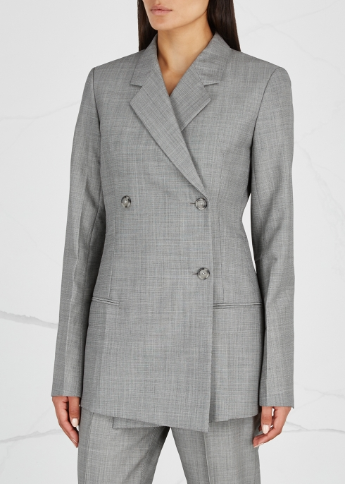 Double-breasted wool and mohair-blend blazer - Helmut Lang