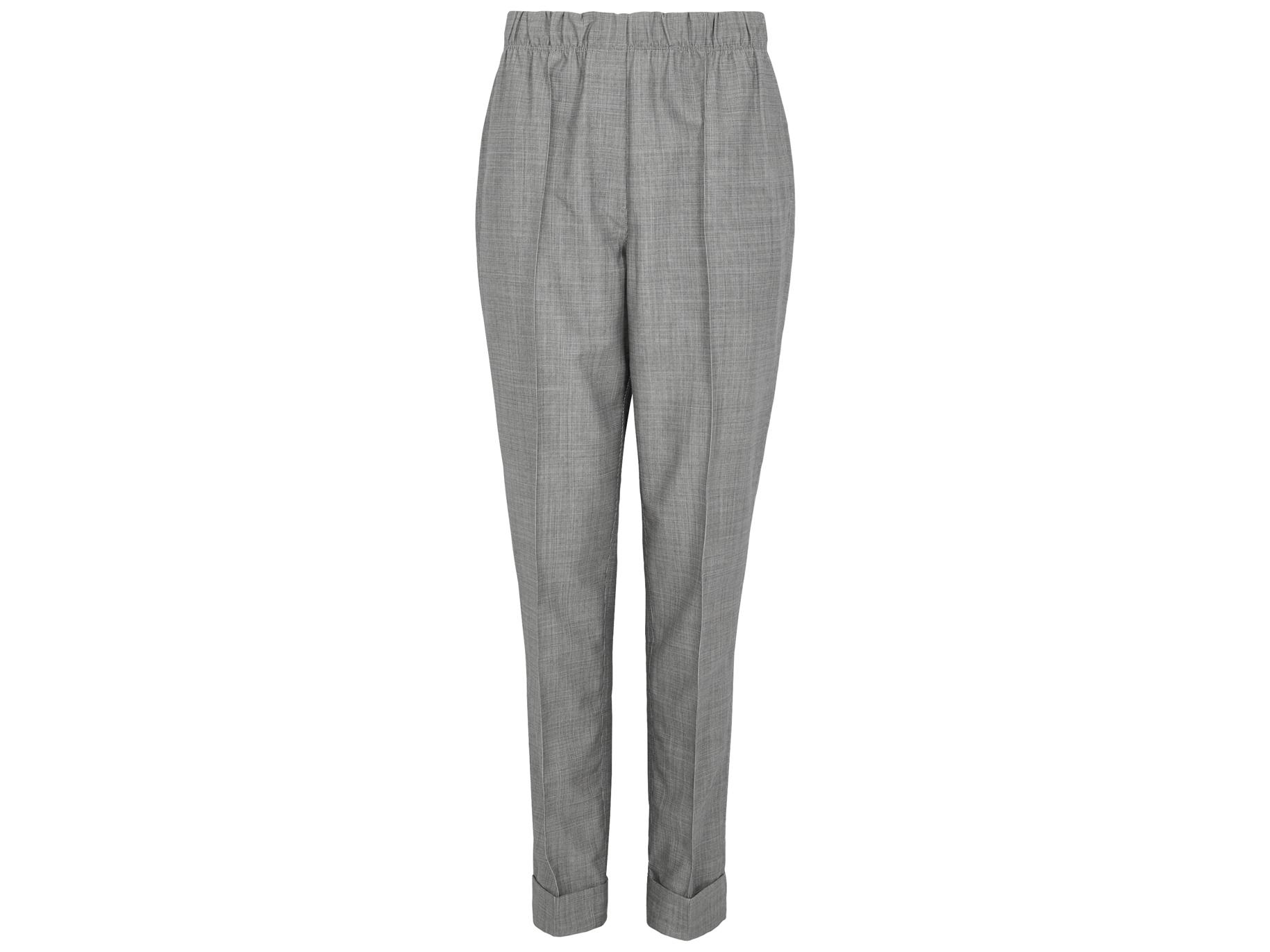 d0d1772b7f86e Helmut Lang Grey wool and mohair-blend trousers - Harvey Nichols
