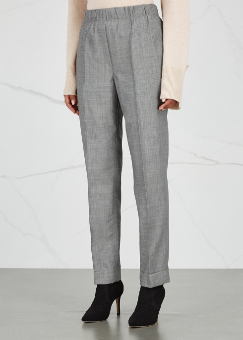 Grey wool and mohair-blend trousers - Helmut Lang