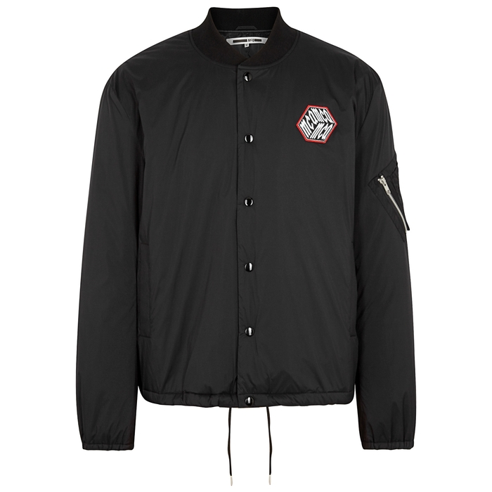 Mcq By Alexander Mcqueen Jackets MA-1 BLACK SHELL BOMBER JACKET