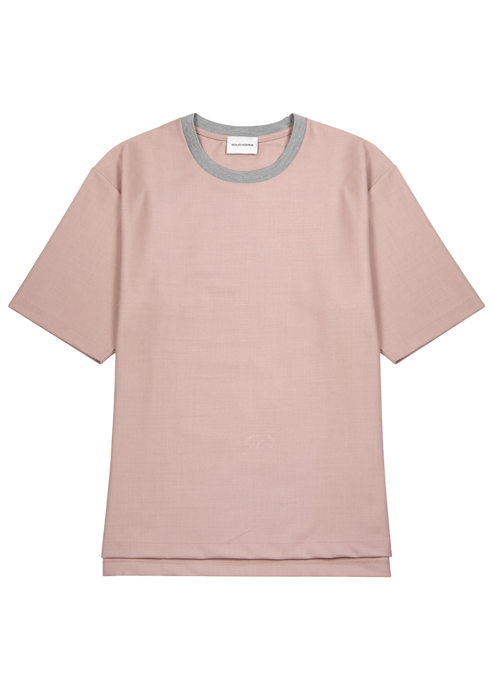 SOLID HOMME OVERSIZED PINK CONTRAST T-SHIRT