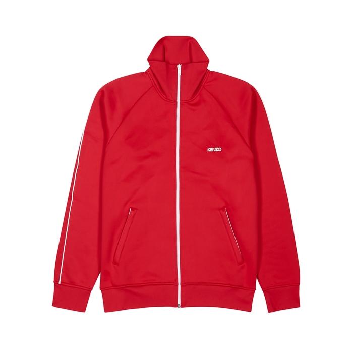 KENZO Red Zipped Jersey Sweatshirt
