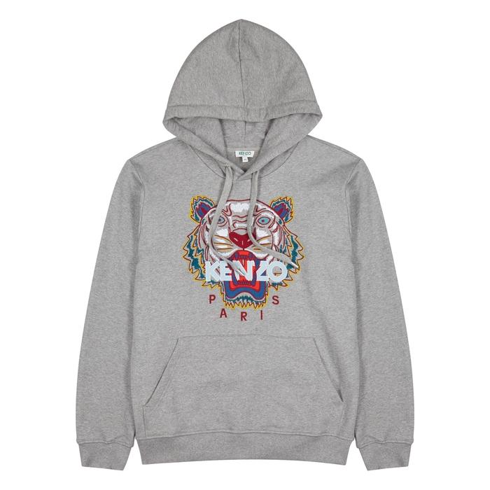 KENZO Tiger-embroidered Stretch-cotton Sweatshirt