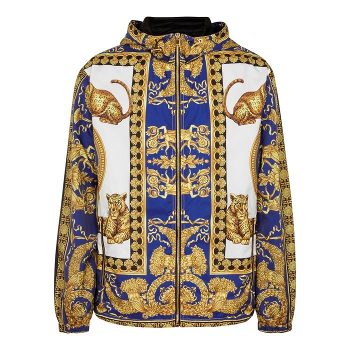 Versace Signature Dea-printed Shell Jacket
