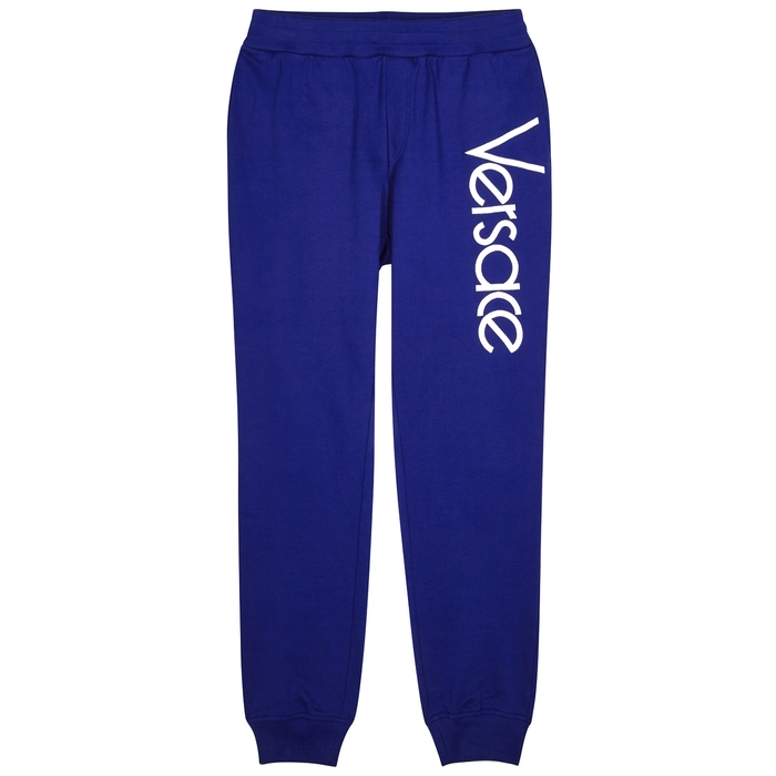 Versace Logo-embroidered Cotton Jogging Trousers