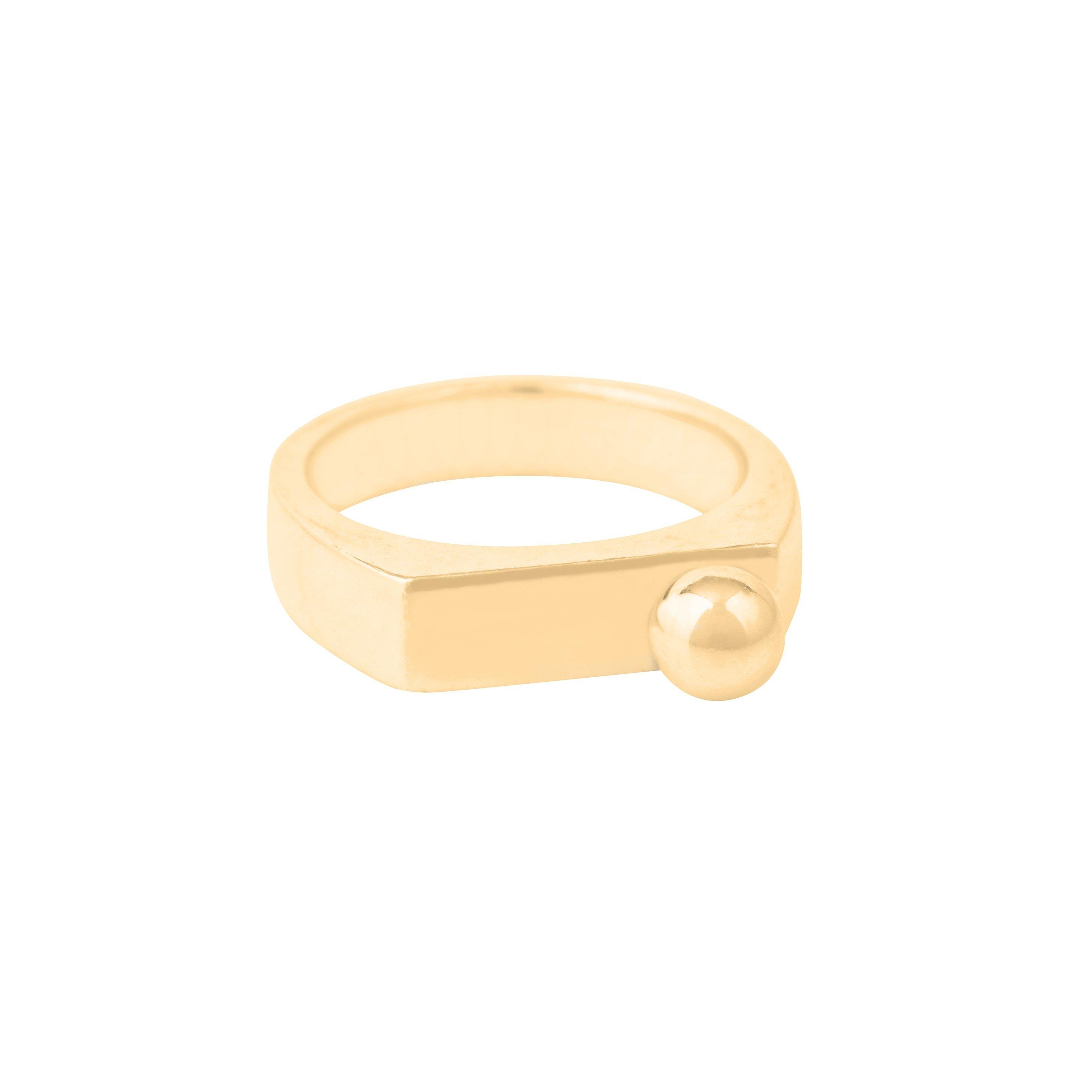 SUSAN CAPLAN CONTEMPORARY 18Ct Gold Vermeil Large Bead Caj Ring