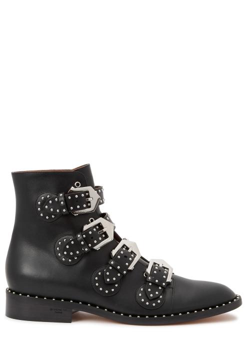 Givenchy Elegant 25 black studded leather boots - Harvey Nichols 948a1337a9d8
