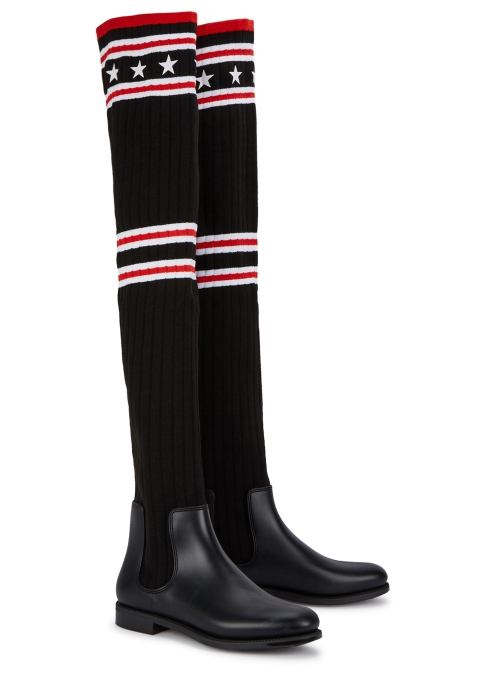 Givenchy Storm 25 black over-the-knee sock boots - Harvey Nichols 89632f8372c5