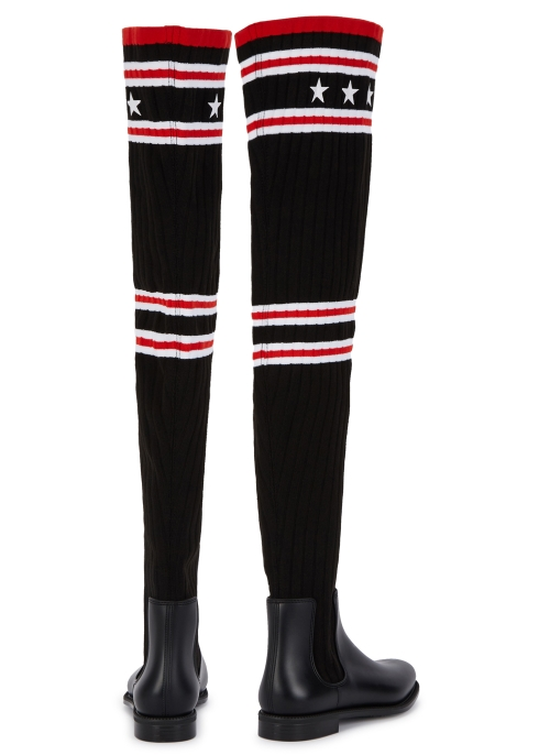 3ac0fbe1f62d Givenchy Storm 25 black over-the-knee sock boots - Harvey Nichols
