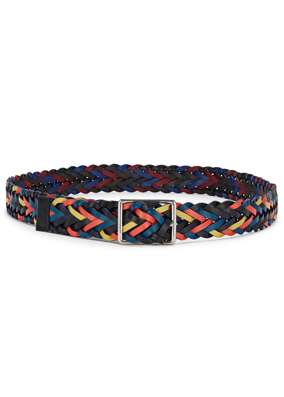 PAUL SMITH REVERSIBLE BRAIDED LEATHER BELT