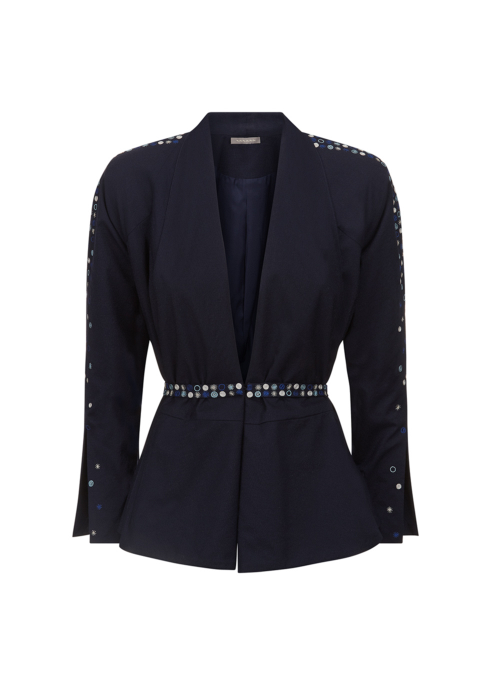 NAVY EMBROIDERED JACKET