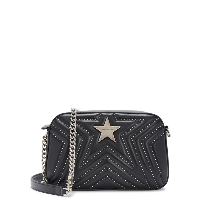 3d19ba926a STELLA MCCARTNEY SMALL STUDDED FAUX LEATHER SHOULDER BAG | ModeSens