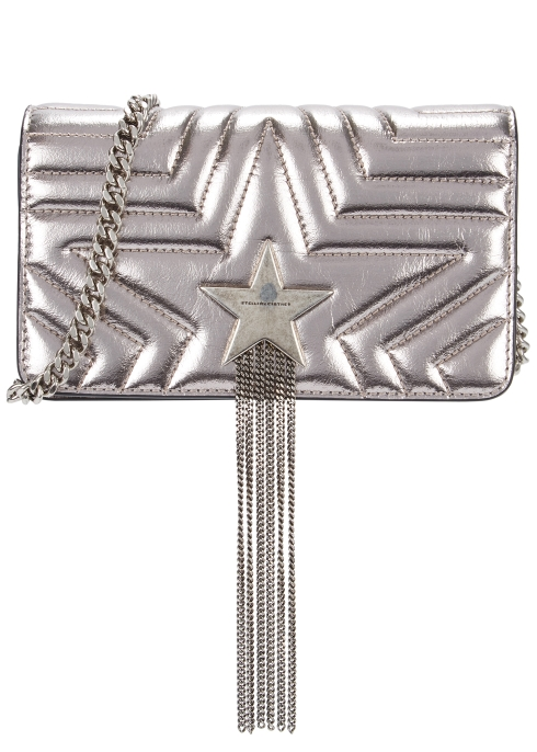 Stella McCartney Small quilted faux leather cross-body bag - Harvey ... 1d57b5c9bdf35