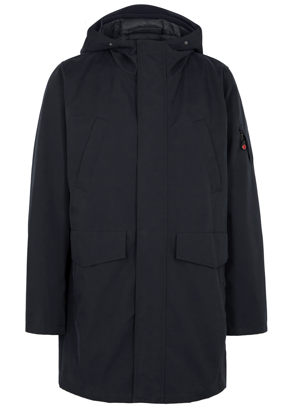 49 WINTERS The Parka Navy Cotton-Blend Twill Coat