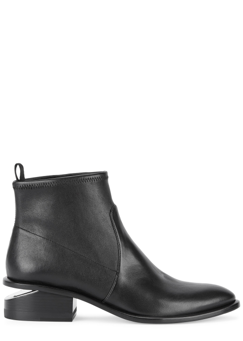 c0a29af415c1 Alexander Wang Kori 40 black stretch-leather ankle boots - Harvey ...