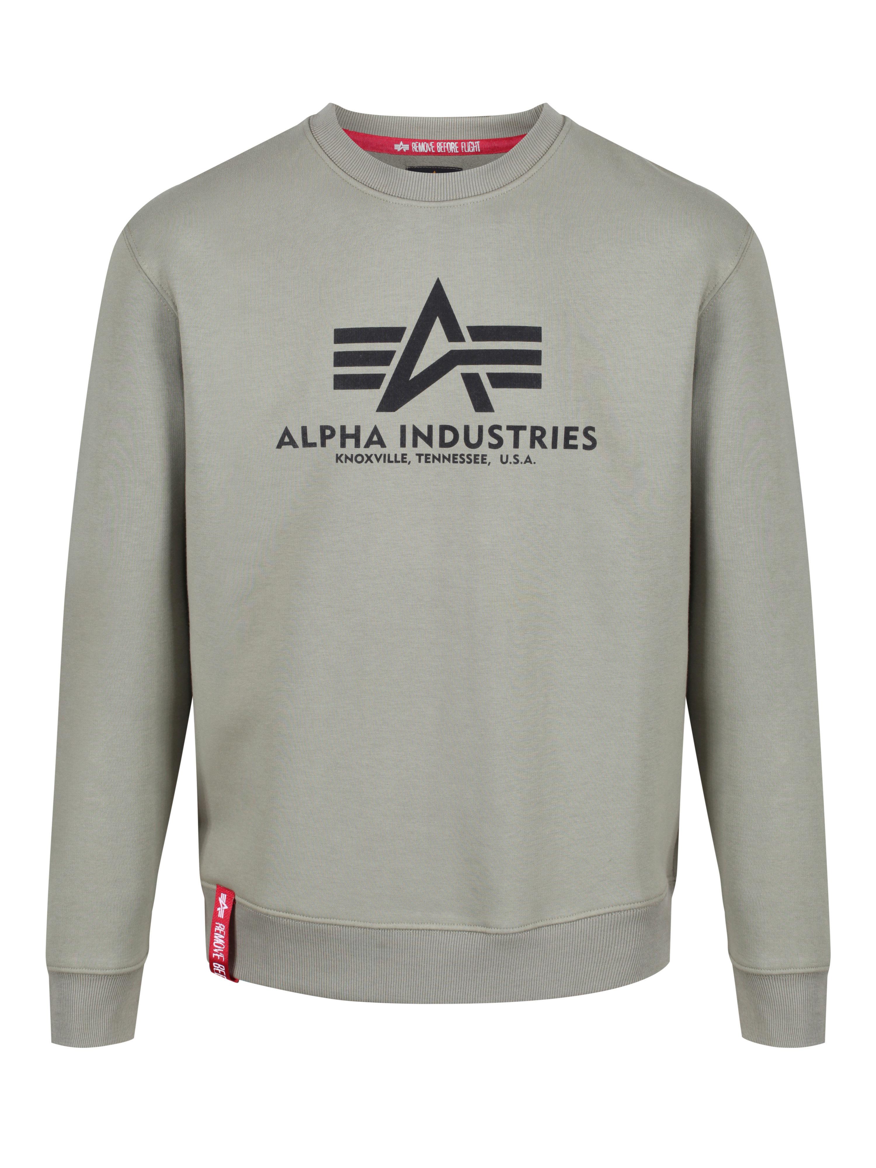 ALPHA INDUSTRIES Printed Logo Sweatshirt in Grey