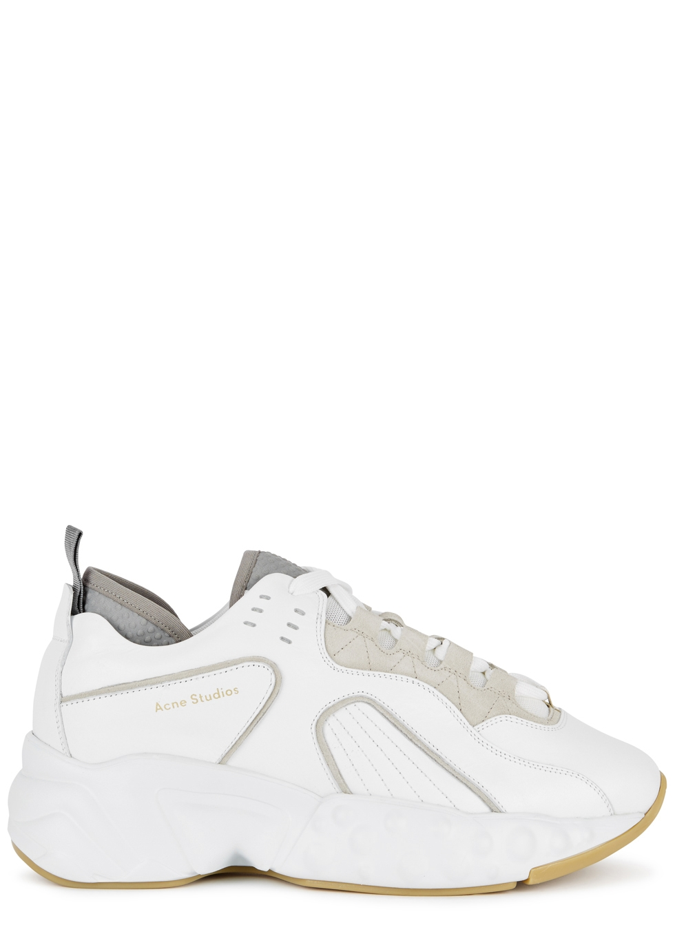 Manhattan White Leather Trainers