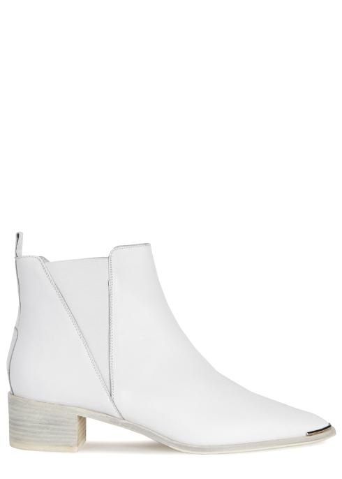 45201b8e4927 Acne Studios Jensen white leather ankle boots - Harvey Nichols