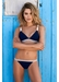 St barths colour block bikini top navy - Valimare