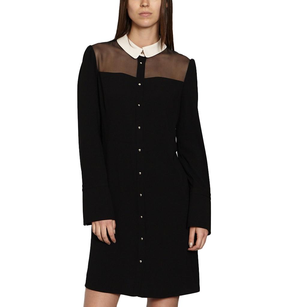 TARA JARMON CONTRAST DRESS