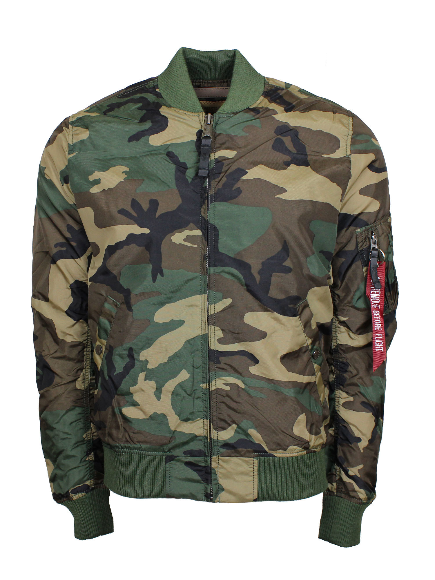 ALPHA INDUSTRIES | Alpha Industries Ma1 Tt Woodland Camo Shell Bomber Jacket | Goxip