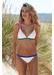 St barths colour block bikini top off white - Valimare