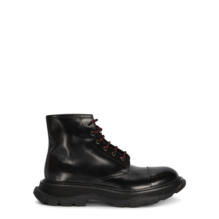 Alexander McQueen Black Leather Boots