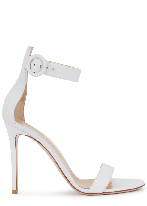 2eca821c666 Gianvito Rossi Portofino 105 white leather sandals - Harvey Nichols