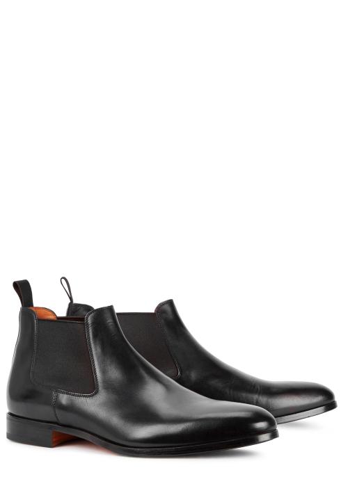 e61a7603da58 Santoni Kenneth black leather Chelsea boots - Harvey Nichols