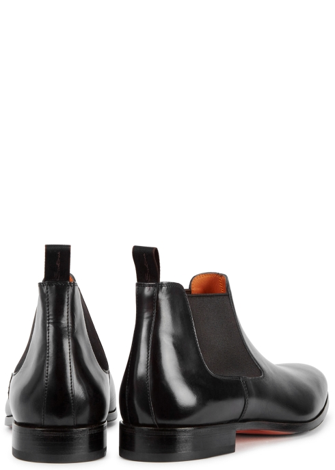 6931ae64d04d5e Santoni Kenneth black leather Chelsea boots - Harvey Nichols