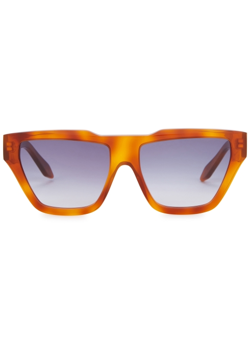 e67e08a36d Victoria Beckham Square Cat brown sunglasses - Harvey Nichols