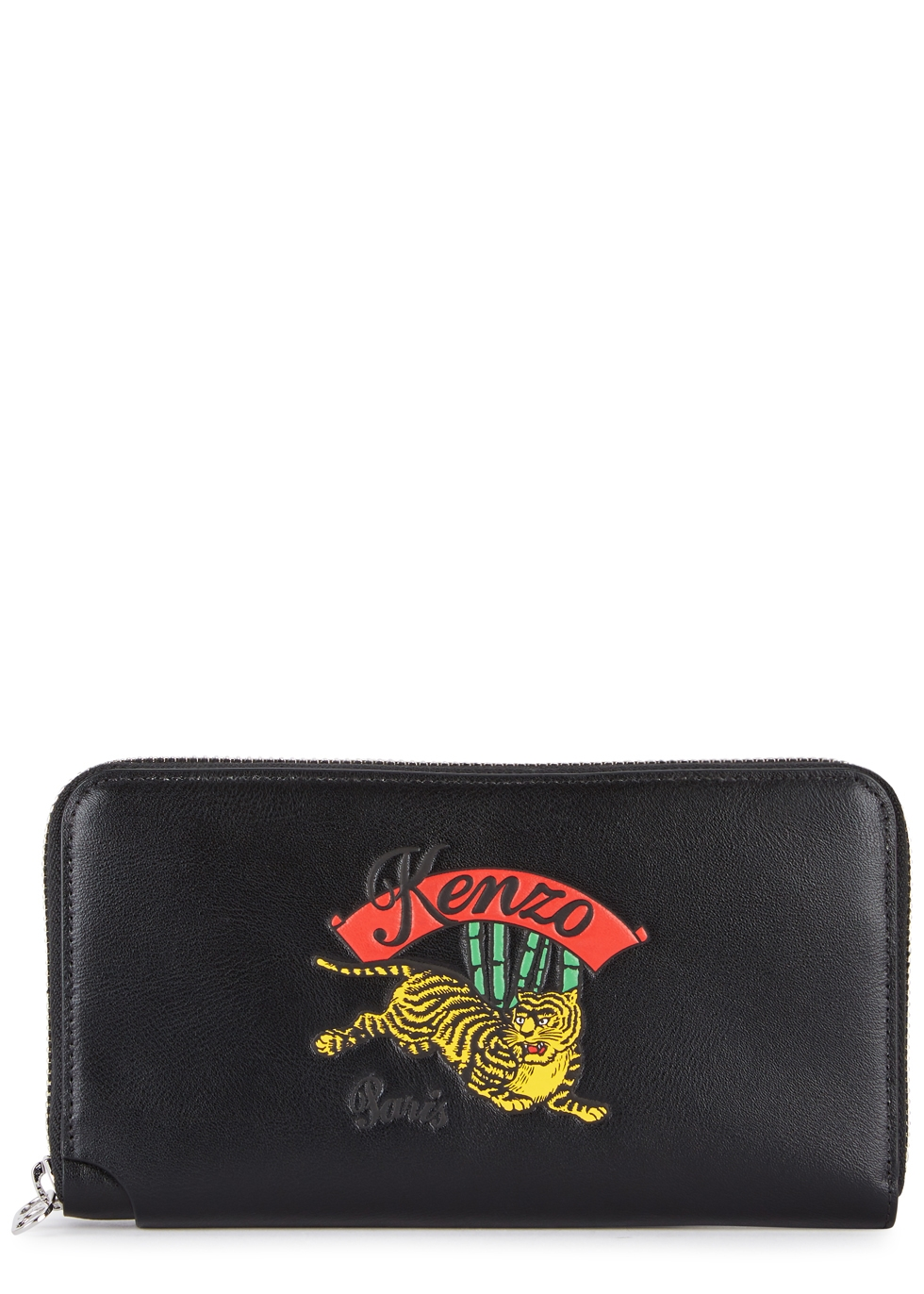 JUMPING TIGER BLACK LEATHER WALLET