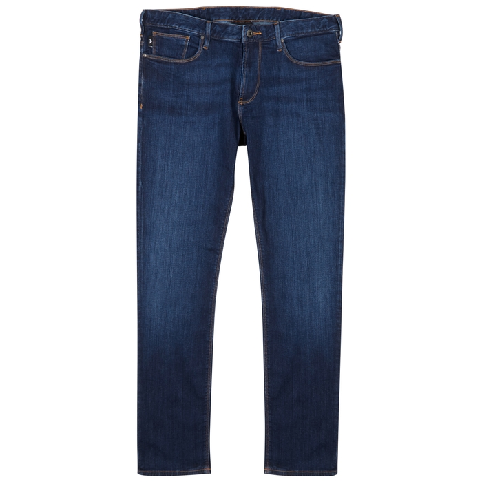Emporio Armani Dark Blue Slim-leg Jeans