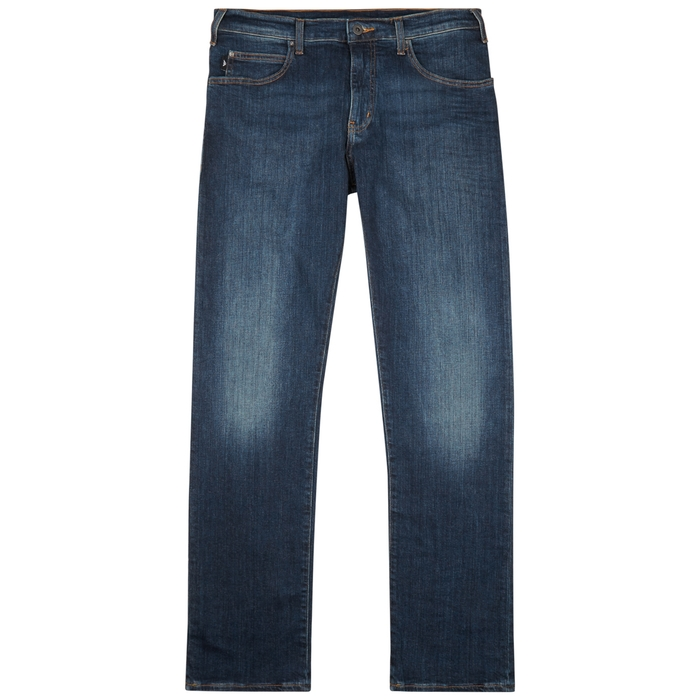Emporio Armani Blue Slim-leg Jeans