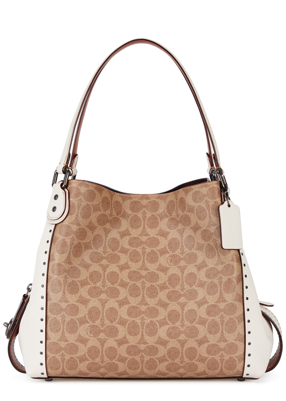 EDIE 31 IVORY PANELLED LEATHER TOTE