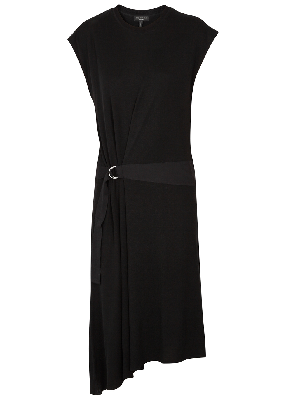 RAG & BONE OPHELIA ASYMMETRIC KNITTED DRESS
