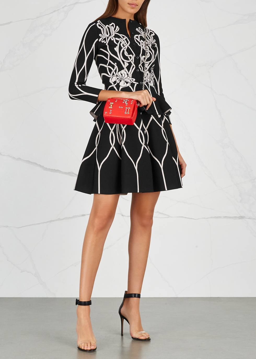 4d80ae377b Alexander McQueen Black chunky-knit wool-blend cardigan - Harvey Nichols