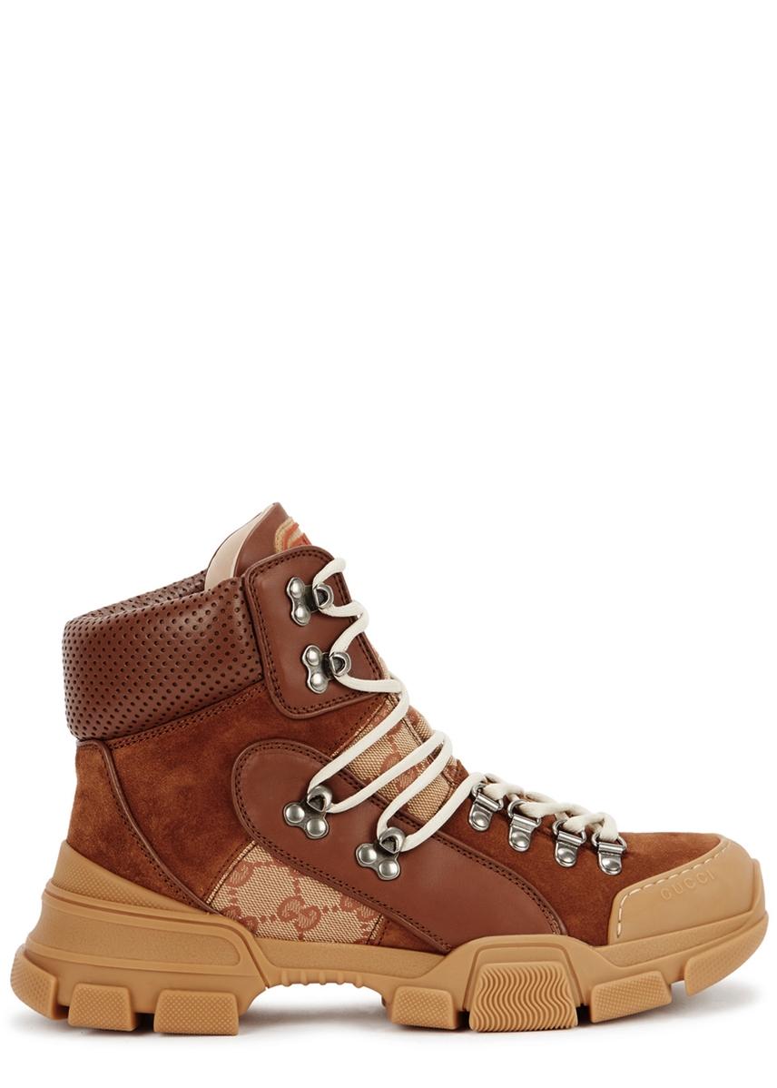 9709932c949 Flashtrek GG brown suede boots Flashtrek GG brown suede boots. Gucci