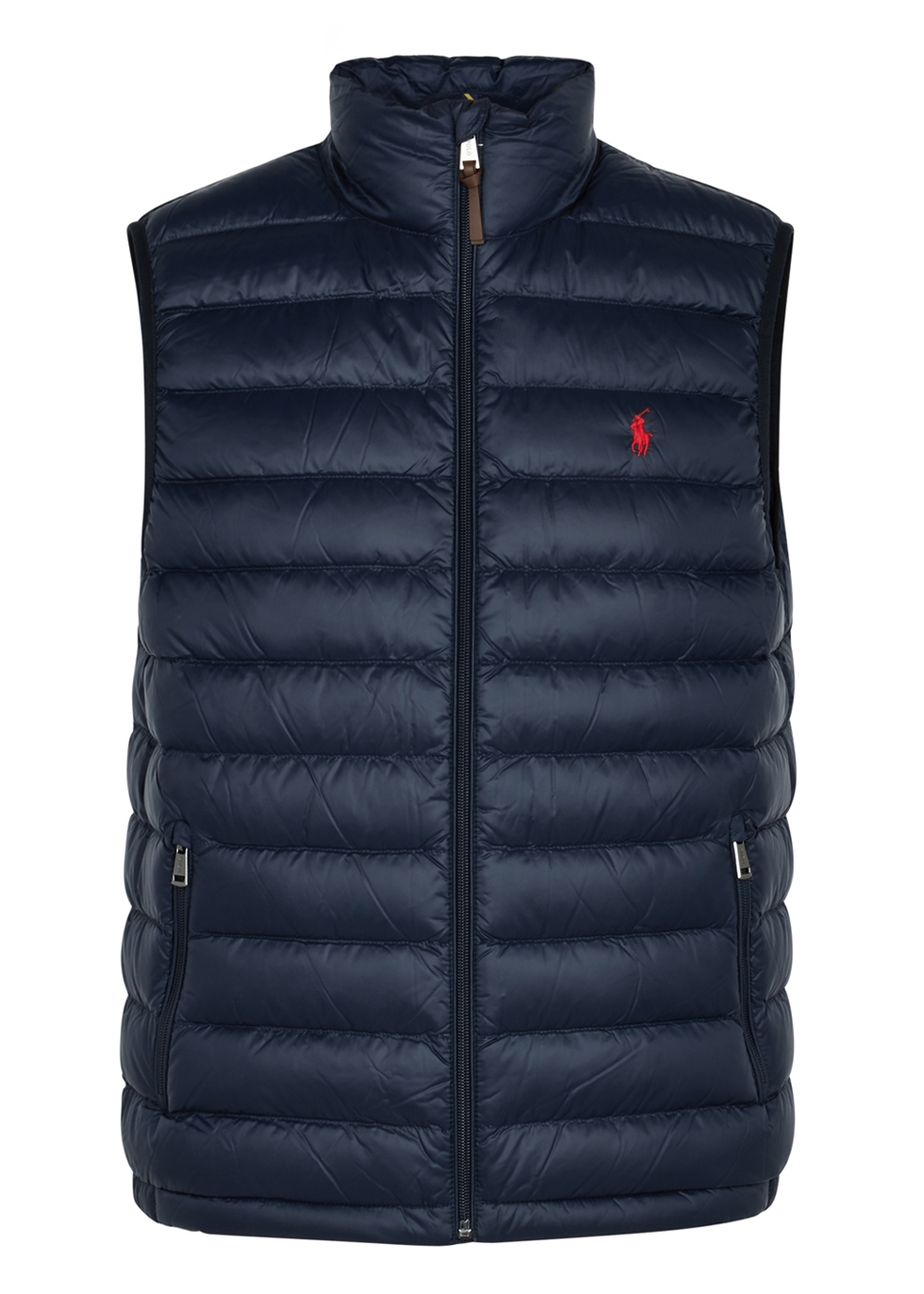 Polo Ralph Lauren. Red cotton bomber jacket. £155.00 · Navy quilted shell  gilet ...