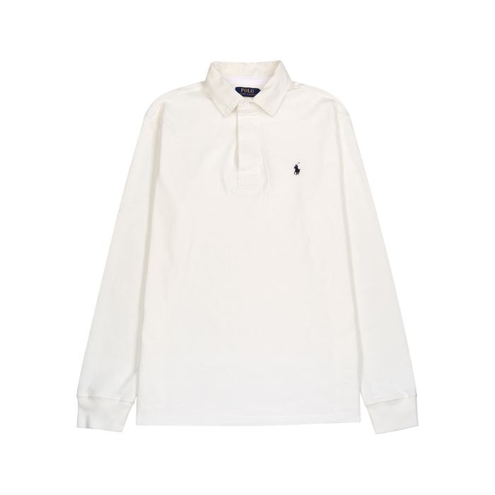 Polo Ralph Lauren White Cotton Rugby Shirt thumbnail